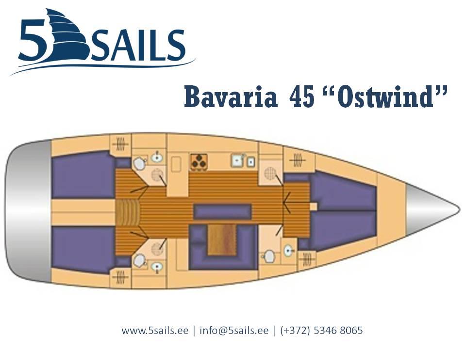 Bavaria 45 Ostwind plan