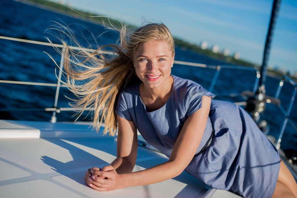 Фотосессия на борту яхты